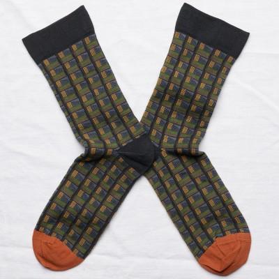 Bonne Maison Socks - Faux Check