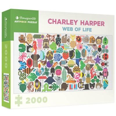 Pomegranate Charley Harper Web of Life 2000 Piece Jigsaw