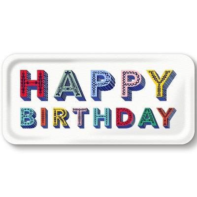 Asta Barrington Happy Birthday Slim Tray By Jamida