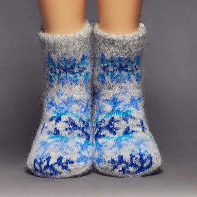 Siberia Spirit Snowflake Goat Hair Socks