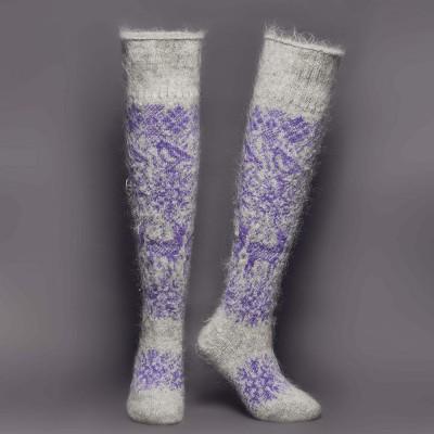 Siberia Spirit Purple Dream Goat Hair Socks