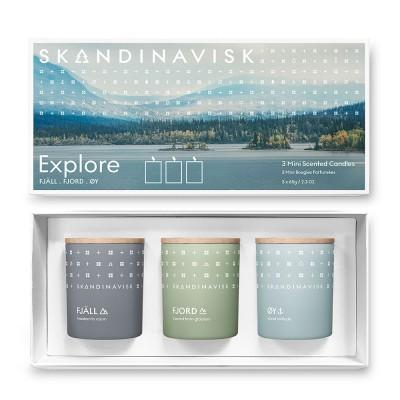 Skandinavisk EXPLORE Giftset of 3 Mini Scented Candles