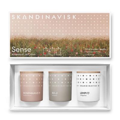 Skandinavisk SENSE Giftset of 3 Mini Scented Candles