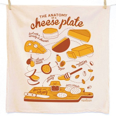 Anatomy of a Cheese Plate Tea Towel - The Neighborgoods