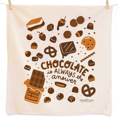 Chocolate Is Always The Answer Tea Towel - The Neighborgoods