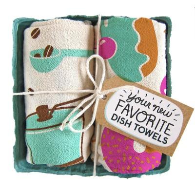 Coffee and Donuts Tea Towel set - The Neighborgoods