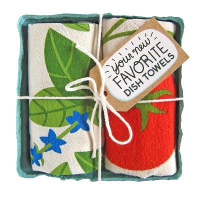 Tomato and Basil Tea Towel Set - The Neighborgoods