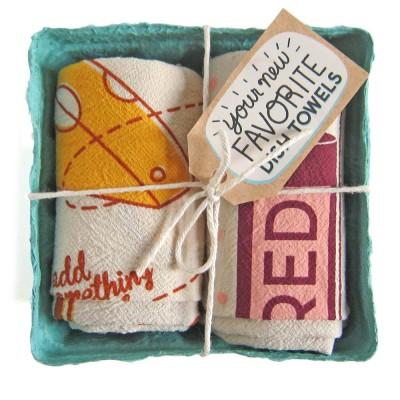 Cheese and Wine Tea Towel Set - The Neighborgoods