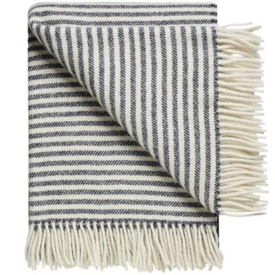 Silkeborg Bogø Wool Throw - Sailor Blue