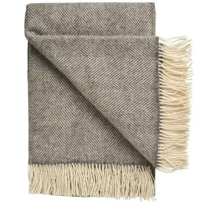 Silkeborg Rømø Herringbone Wool Throw - Dark Nordic Grey