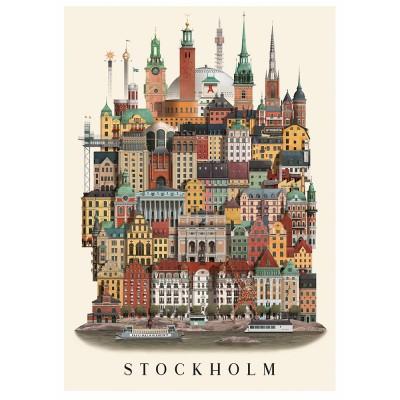 Martin Schwartz Stockholm City Poster - 50 x 70 cm
