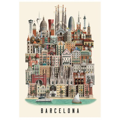 Martin Schwartz Barcelona City Poster - 50 x 70 cm