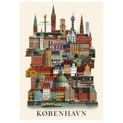 Martin Schwartz København City Poster - 50 x 70 cm