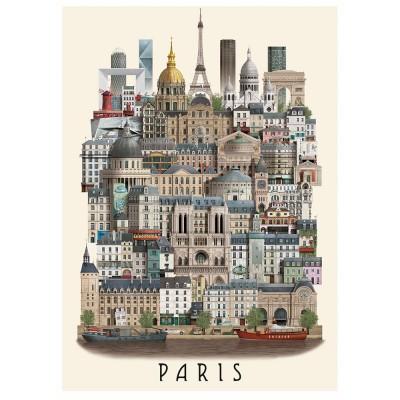 Martin Schwartz Paris City Poster - 50 x 70 cm