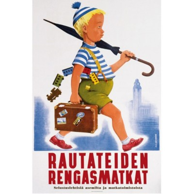 Umbrella Guy - Vintage Travel Poster