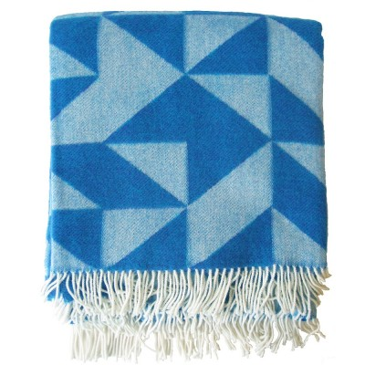 Twist A Twill Blue Blanket