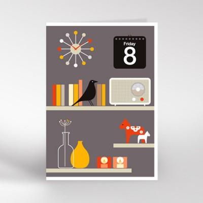 Decorative Shelves Greeting Card