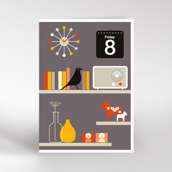 Decorative Shelves Greeting Card