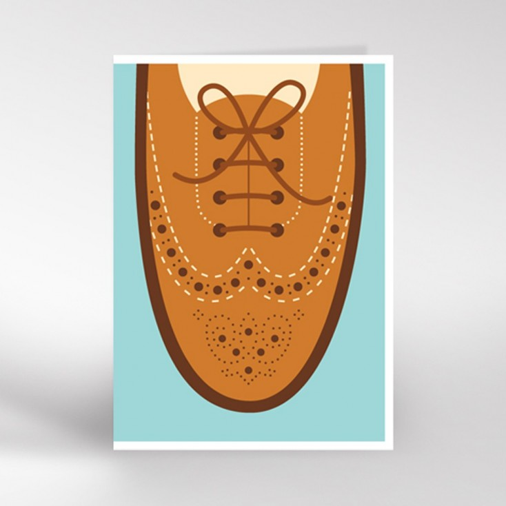 Brogues Greeting Card