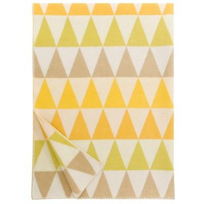 Lapuan Kankurit Yellow Harlekiini Wool Blanket