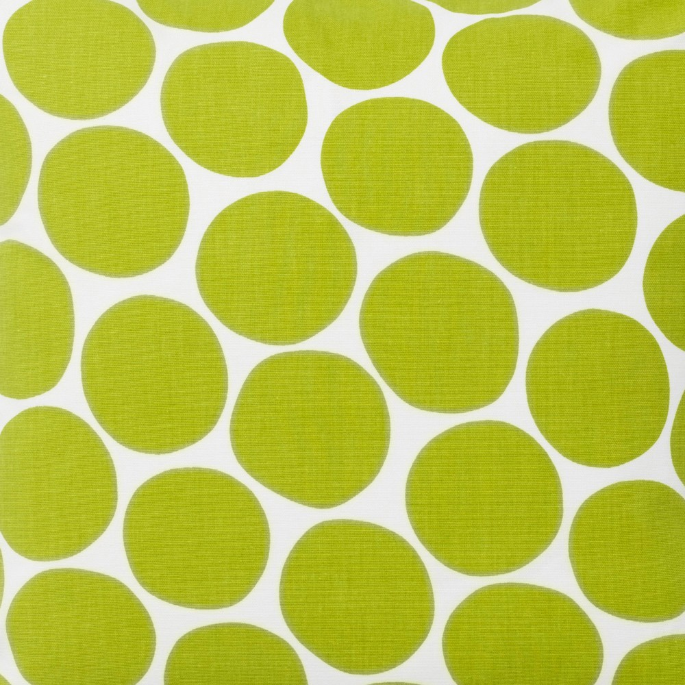 Pom pom green scandinavian fabric by spira of sweden hus for Green fabric