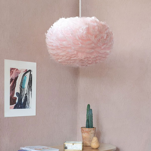 Umage Eos Feather Lamp Shade - Medium Light Rose